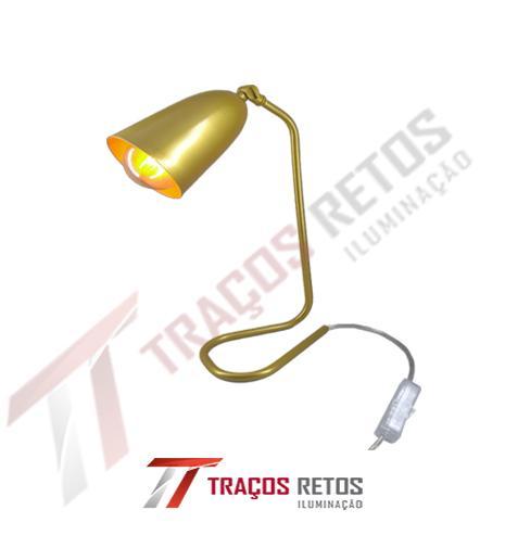 Luminaria de mesa base U caneco PAR 20